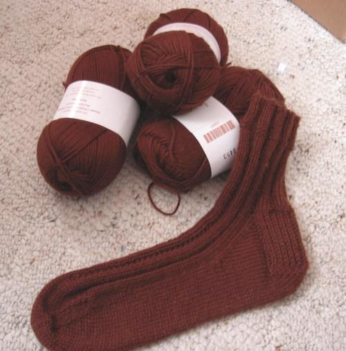 Knitpicks Essential Sock, cocoa