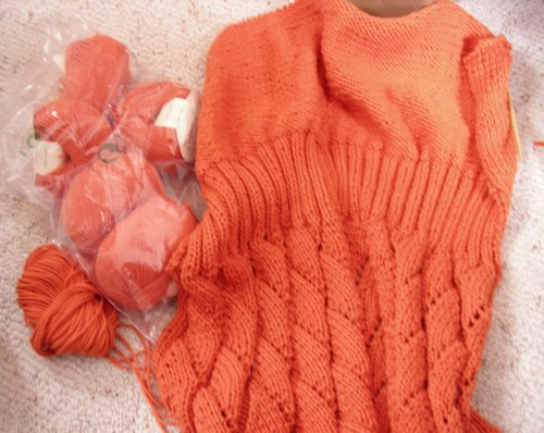 Debbie Bliss Cotton DK, tangerine